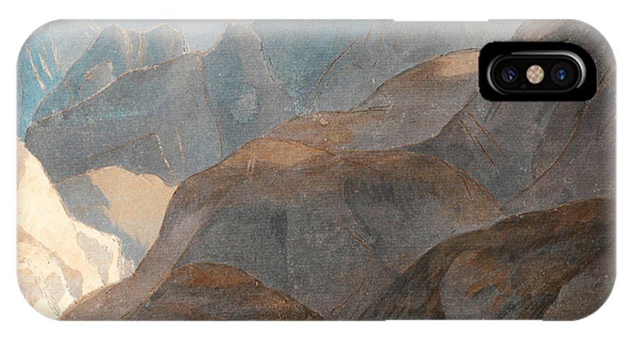 Francis Towne - On The Lake Of Como IPhone X / XS Case featuring the painting On The Lake Of Como by Celestial Images