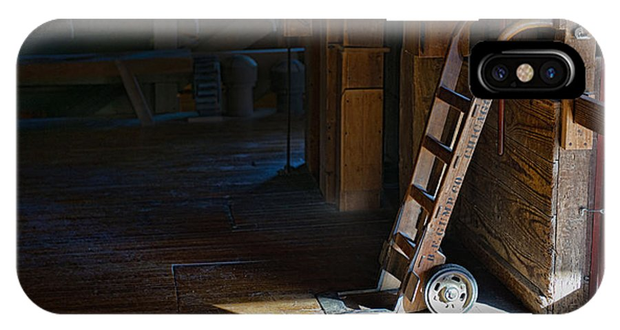 Dolly IPhone X Case featuring the photograph On The Loading Dock by David Arment