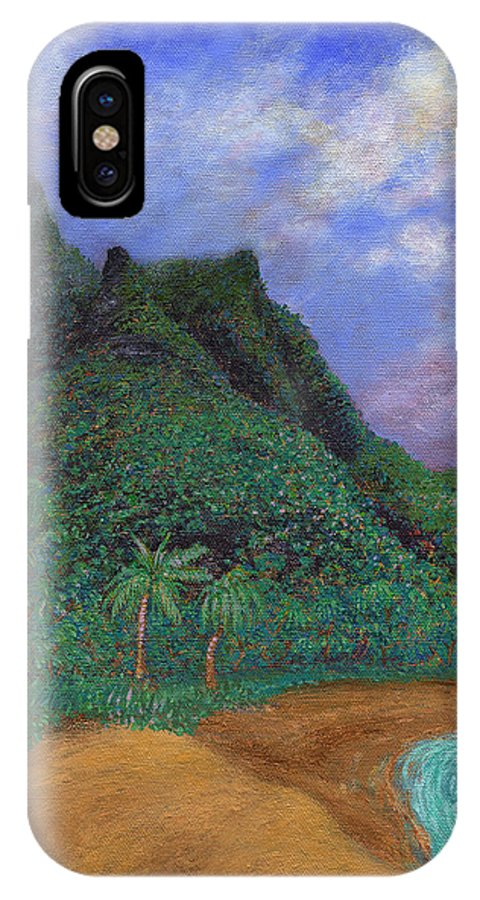 Coastal Decor IPhone X Case featuring the painting On The North Shore by Kenneth Grzesik