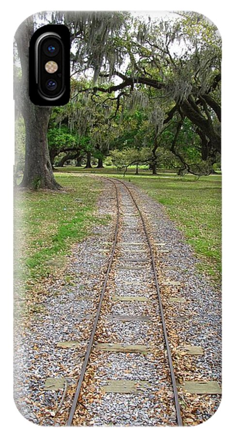 On The Right Track IPhone X Case featuring the photograph On The Right Track by Beth Vincent