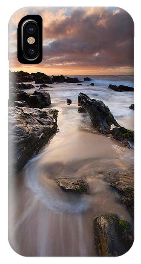 Basham Beach IPhone X Case featuring the photograph On The Rocks by Mike Dawson