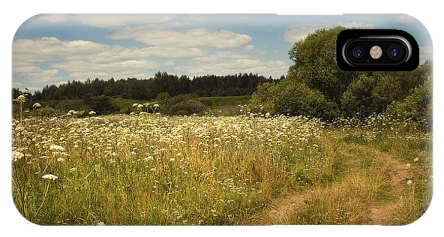 Meadow IPhone X Case featuring the photograph On The Summer Meadow II. Russia by Jenny Rainbow