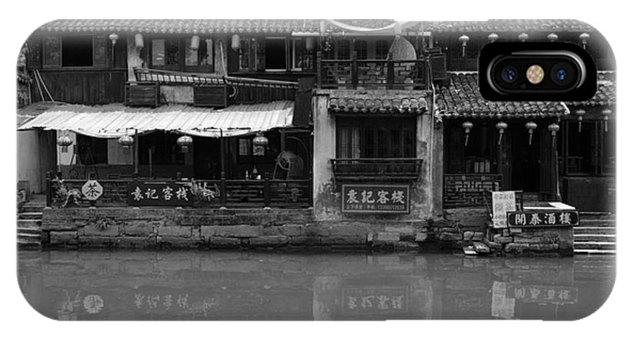 Water Village IPhone X Case featuring the photograph On The Water by Shawna Gibson