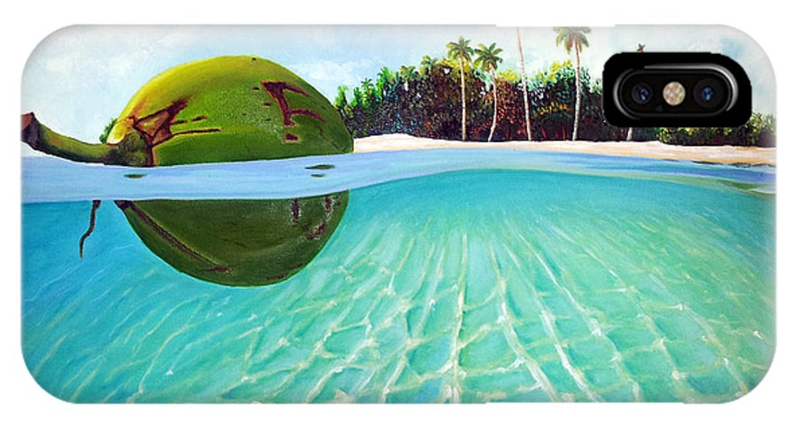 Coconut IPhone X Case featuring the painting On The Way by Jose Manuel Abraham