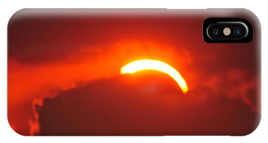 Landscape IPhone X Case featuring the photograph On Top Of The Sun by David Pennington Sr