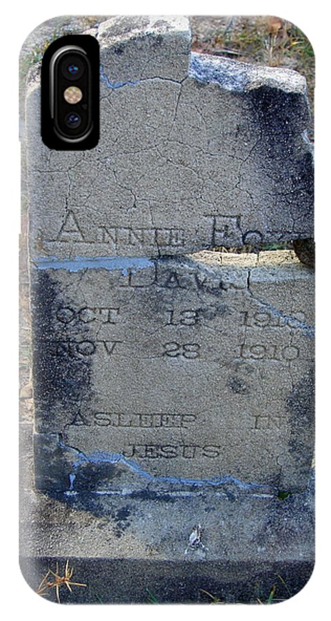 Grave IPhone X Case featuring the photograph Once Known by Lew Davis