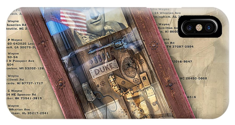 John Wayne IPhone X Case featuring the photograph One Hundred Guys Named John Wayne by Gary Warnimont
