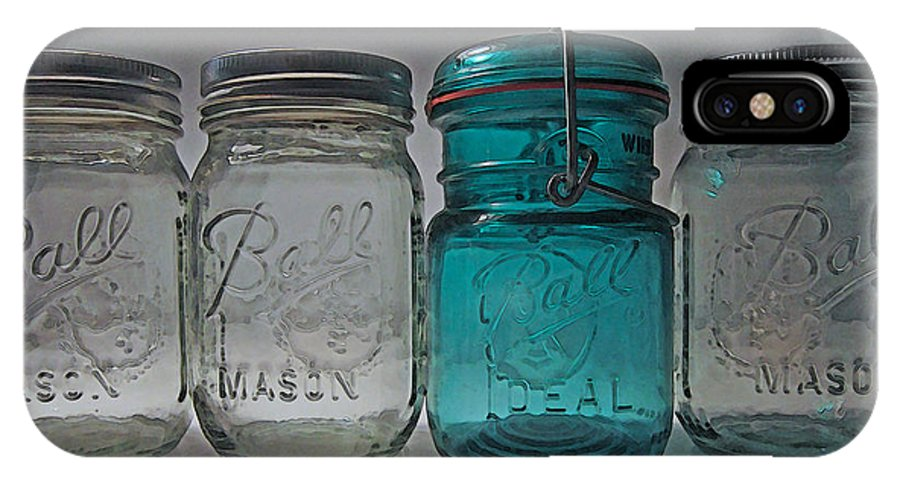 Ball Jar IPhone X Case featuring the photograph One Is Different by Mary Bedy