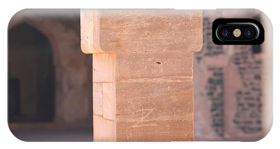 Palace IPhone X / XS Case featuring the photograph One Pillar by Four Hands Art