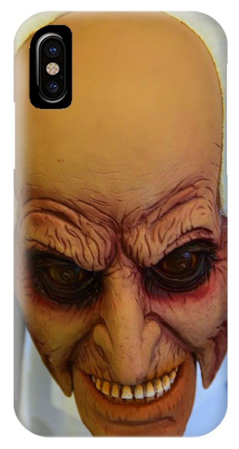 Scary IPhone X Case featuring the photograph One Scary Guy by Richard Jenkins