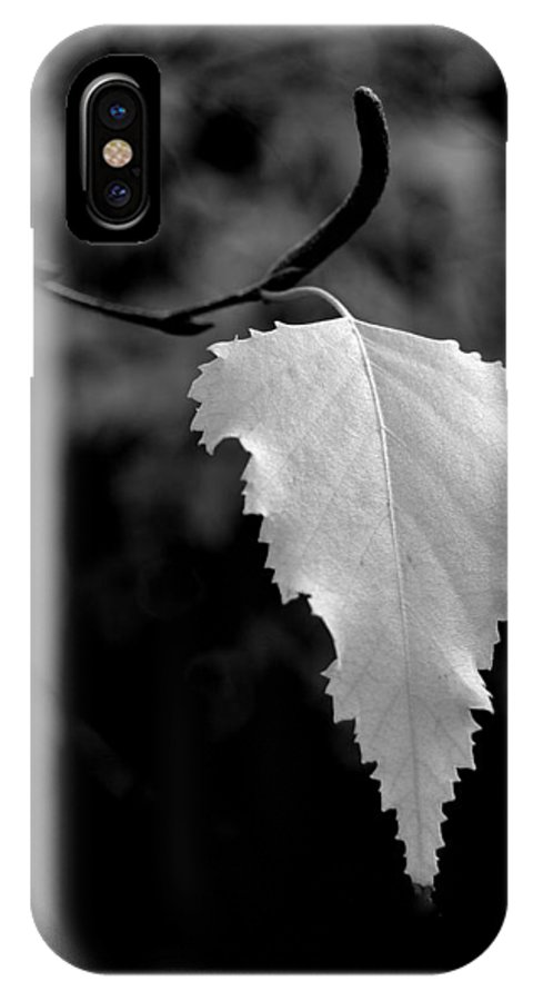 Blacks IPhone X Case featuring the photograph One by Steven Milner