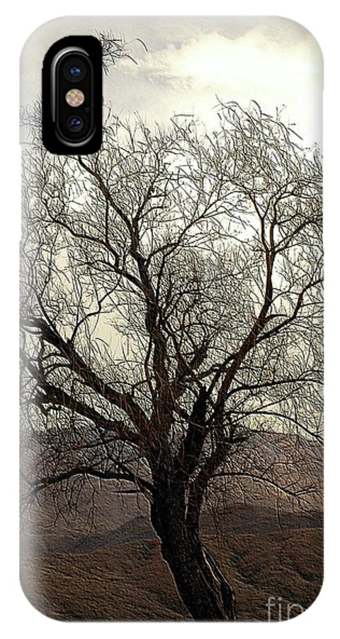 Tree IPhone X Case featuring the photograph One Tree by Kathleen Struckle