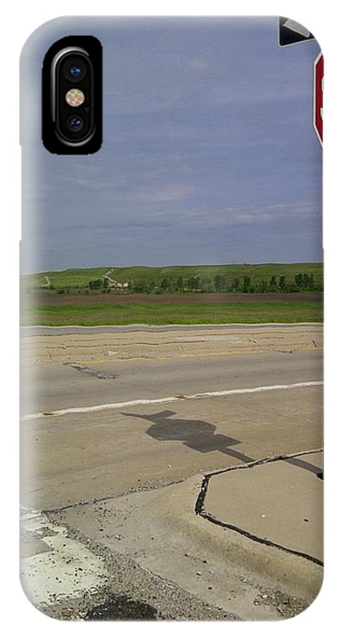 One Way Stop IPhone X Case featuring the photograph One Way Stop by Don Baker