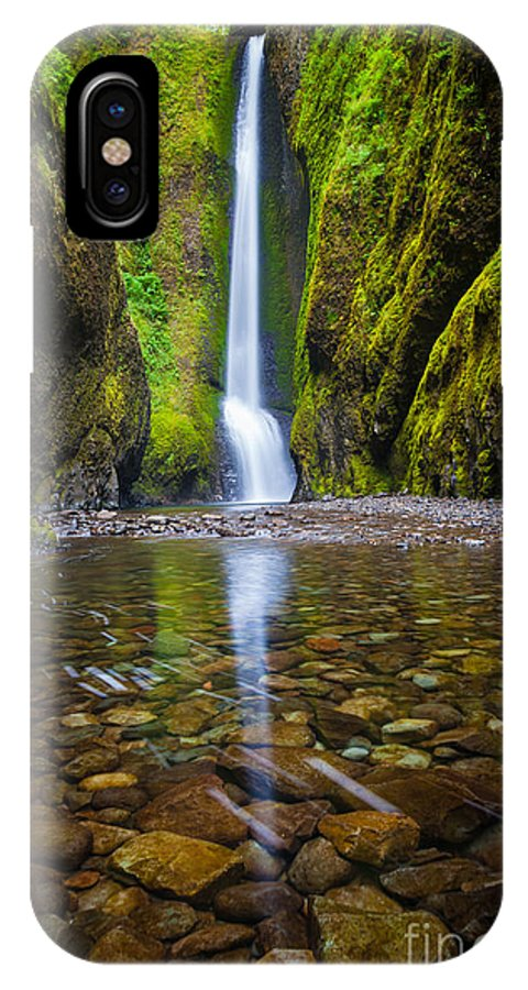 America IPhone X Case featuring the photograph Oneonta Falls by Inge Johnsson