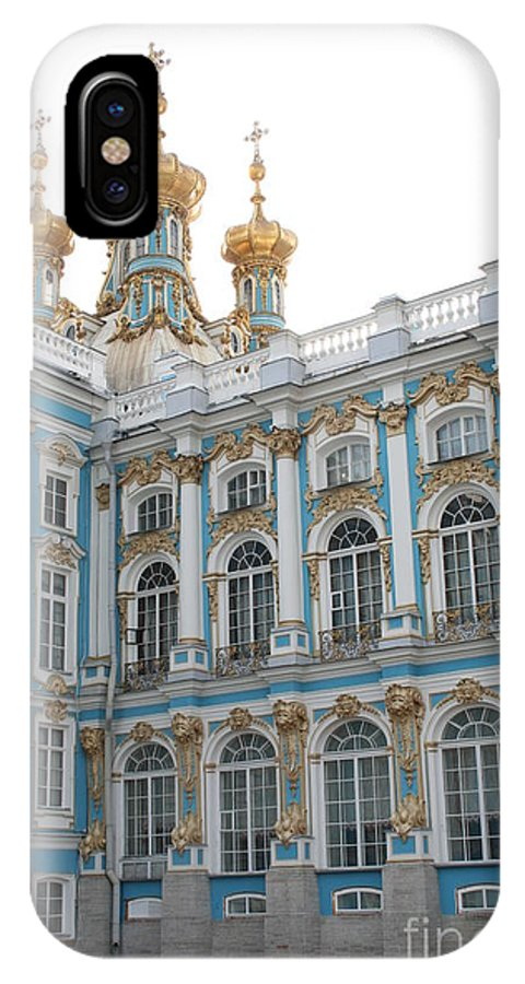 Palace IPhone X Case featuring the photograph Onion Domes - Katharinen Palace - Russia by Christiane Schulze Art And Photography