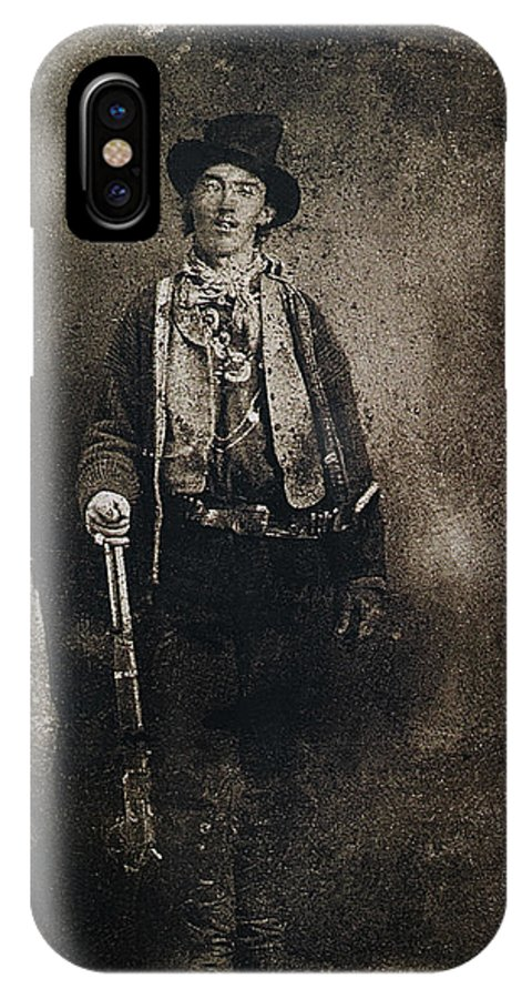 Only Authenticated Photo Of Billy The Kid Ft. Sumner New Mexico C.1879 IPhone X Case featuring the photograph Only Authenticated Photo Of Billy The Kid Ft. Sumner New Mexico C.1879-2013 by David Lee Guss