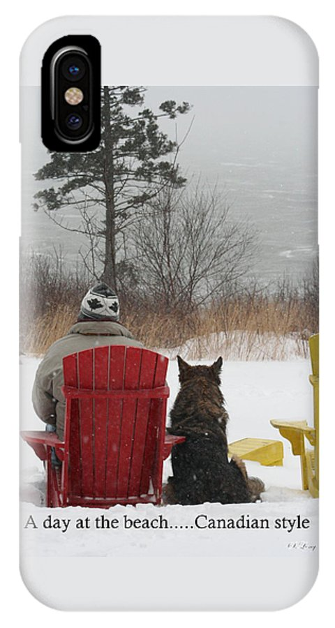 Funny Photograph IPhone X Case featuring the photograph Only In Canada by Sue Long
