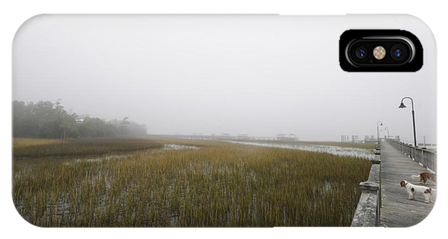 Fog IPhone X Case featuring the photograph Opaque Foggy Morning by Dale Powell