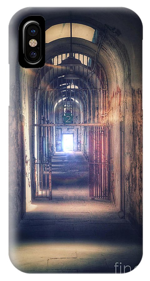 Gate IPhone X Case featuring the photograph Open Gate To Prison Hallway by Jill Battaglia