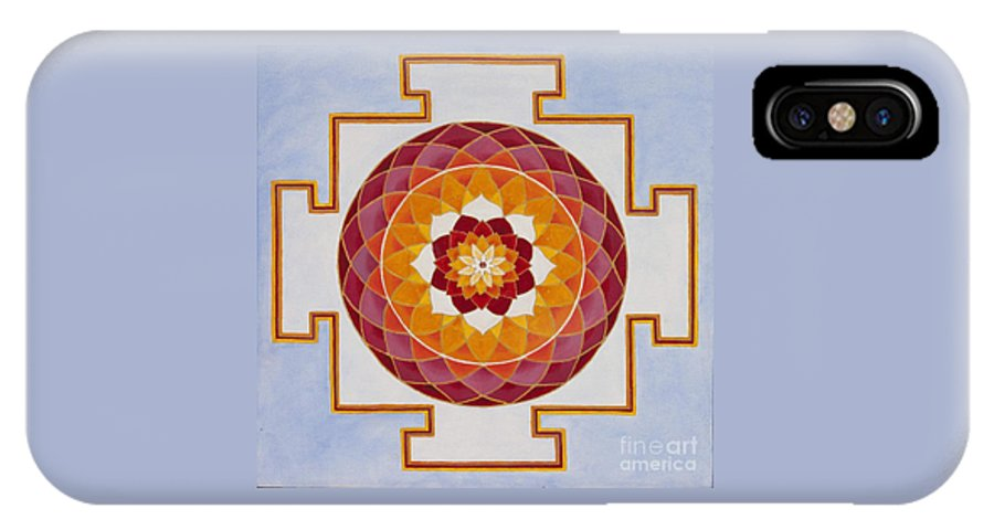 Mandala IPhone X Case featuring the painting Open Heart by Mayki Wiberg