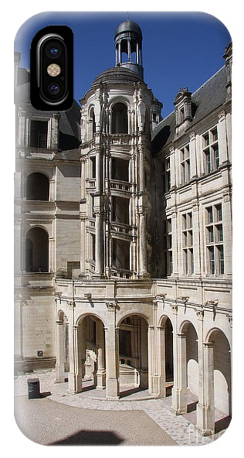 Palace IPhone X Case featuring the photograph Open Staircase Chateau Chambord - France by Christiane Schulze Art And Photography