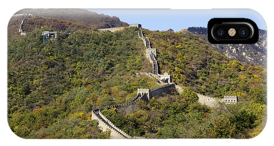 China Landscape IPhone X Case featuring the photograph Open View Of The Great Wall 612 by Terri Winkler