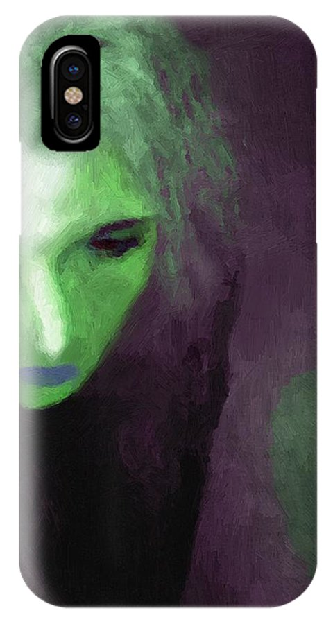 Woman IPhone X Case featuring the painting Ophelia Condemned by RC DeWinter
