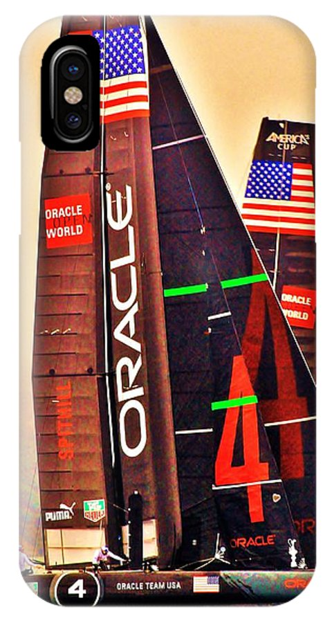 IPhone X Case featuring the photograph Oracle Ac 45's by Steven Holloway
