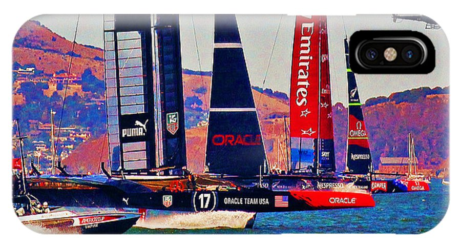America's Cup IPhone X Case featuring the photograph Oracle by Steven Holloway