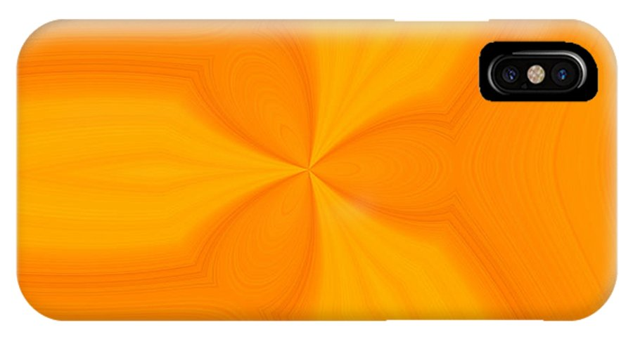 Lemon Orange Abstract IPhone X Case featuring the digital art Orange And Lemon Squeeze by T T