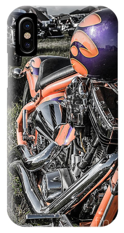 Motorcycle IPhone X Case featuring the photograph Orange by Christopher Biggers