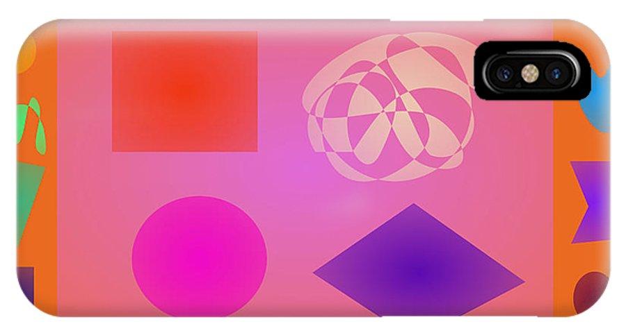 Gradation IPhone X Case featuring the digital art Orange Dream by Masaaki Kimura