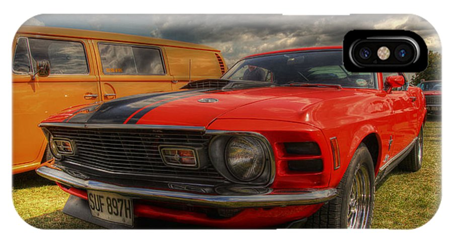 Ford Mustang IPhone X Case featuring the photograph Orange Mustang by Lee Nichols