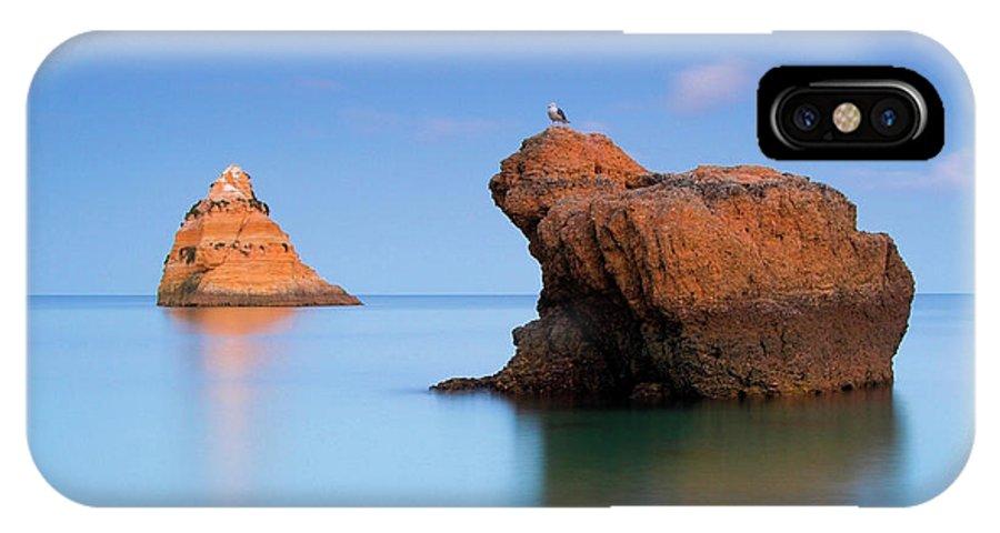 Algarve IPhone X Case featuring the photograph Orange Rock Formations by Joel Santos