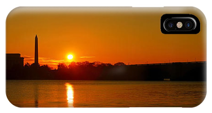 Abe IPhone X Case featuring the photograph Orange Sunrise Over Dc by Metro DC Photography