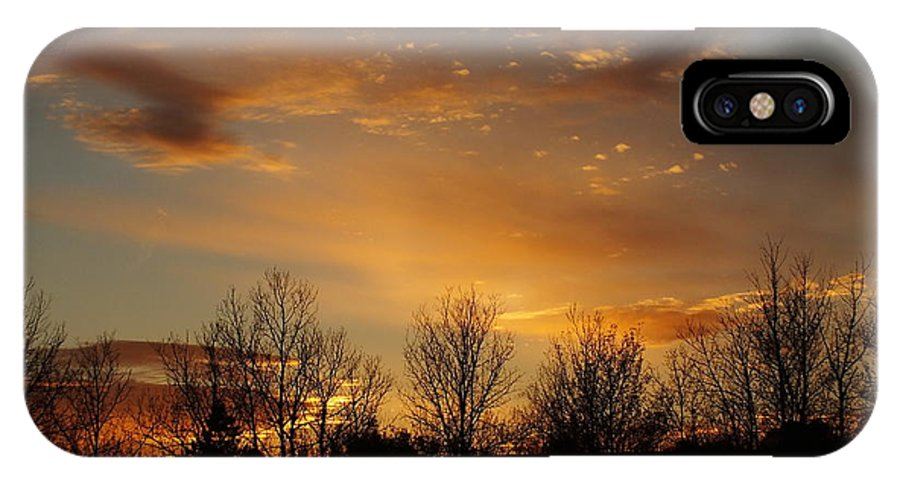 New England IPhone X Case featuring the photograph Orange Sunset by Gene Cyr