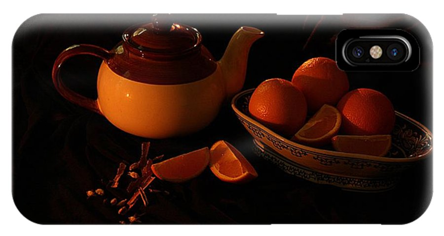 Tea IPhone X Case featuring the photograph Orange Tea With Spices by Ajithaa Edirimane