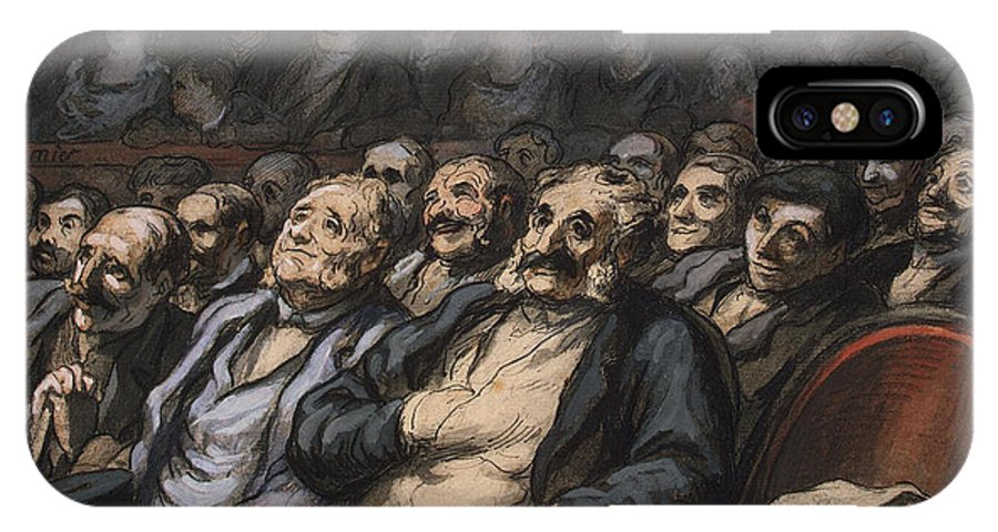 Audience IPhone X Case featuring the painting Orchestra Seat by Honore Daumier