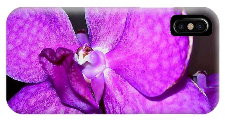 Flowers IPhone X Case featuring the photograph Orchid From Art Gallery by Randy Rosenberger