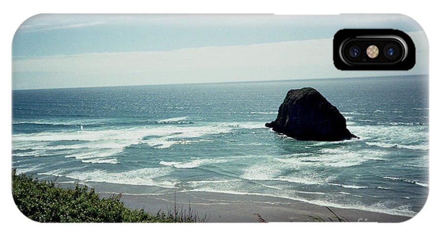 Oregon Coast IPhone X Case featuring the photograph Oregon Coast Ghost Surfer by June Hatleberg Photography