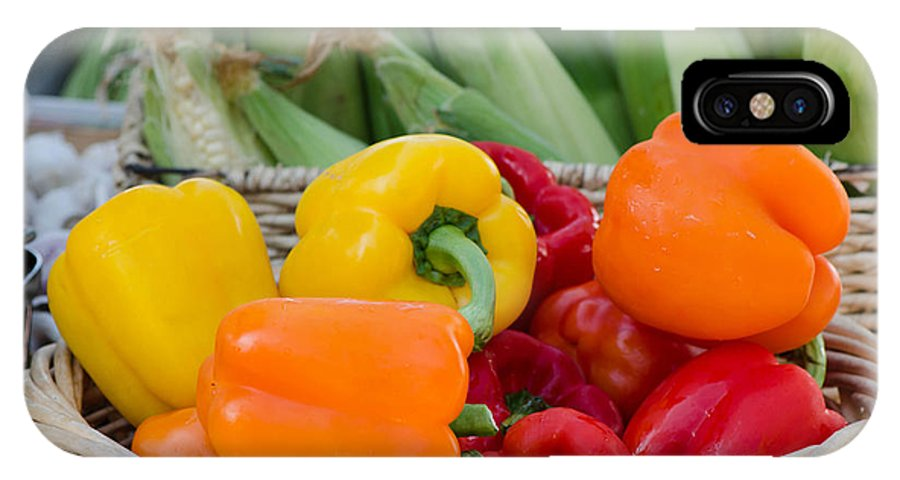 Organic IPhone X Case featuring the photograph Organic Sweet Bell Peppers by Michael Moriarty