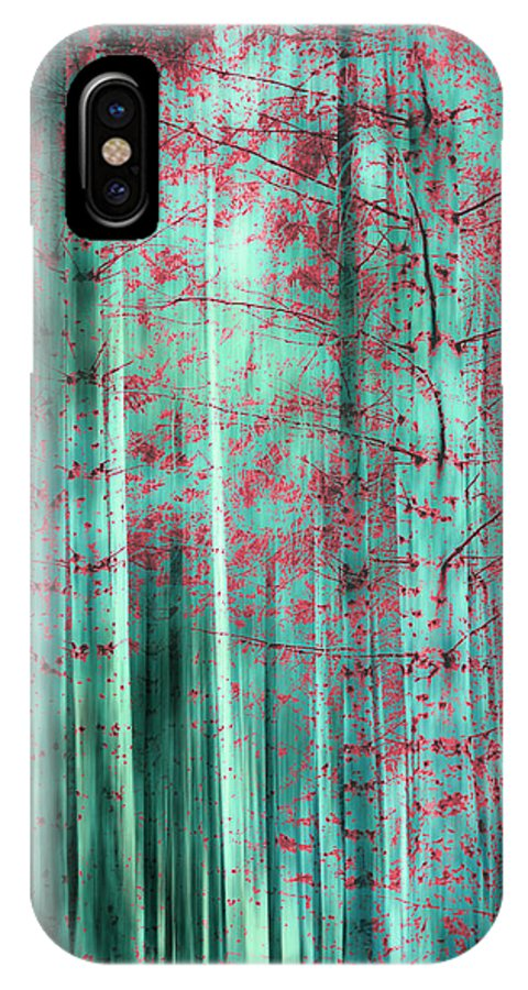 Green IPhone X / XS Case featuring the photograph Oriental Feeling by Linda Hoey