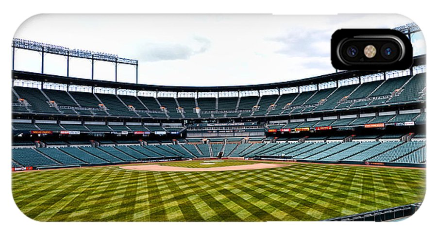 Oriole IPhone X Case featuring the photograph Oriole Park At Camden Yards by Bill Cannon