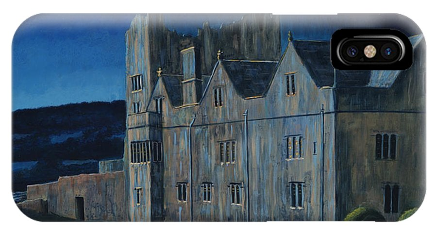 Castle IPhone X Case featuring the painting Ormonde Castle And Manor By Night by Teresa Moran