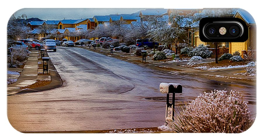 Myhaver Photography IPhone X Case featuring the photograph Oro Valley Winter No.54 by Mark Myhaver