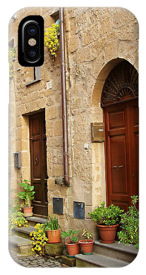 Orvieto Homes IPhone X Case featuring the photograph Orvieto Homes by Ellen Henneke
