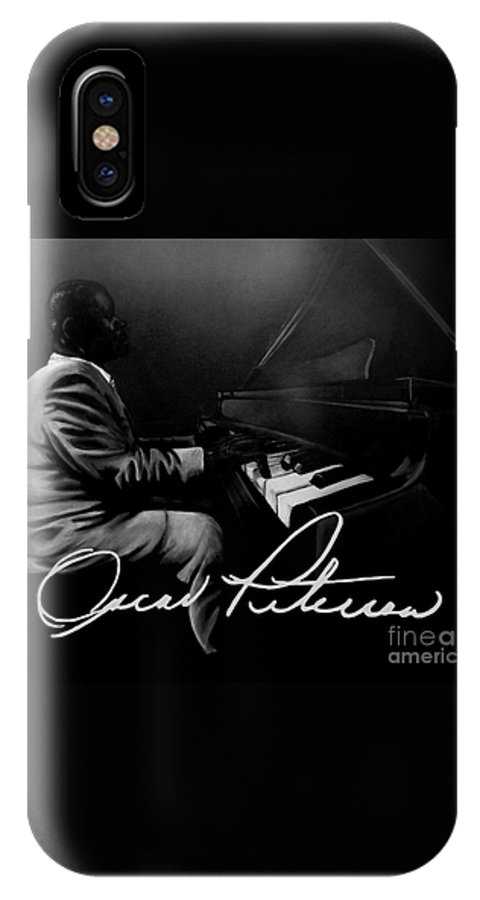 Jazz IPhone X Case featuring the painting Oscar Peterson by Tylir Wisdom