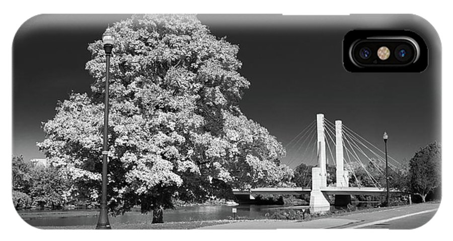 Forest IPhone X / XS Case featuring the photograph Osu Campus 9216 by Guy Whiteley