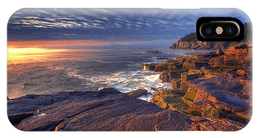 Otter Cove IPhone X Case featuring the photograph Otter Cove Sunrise by Marco Crupi