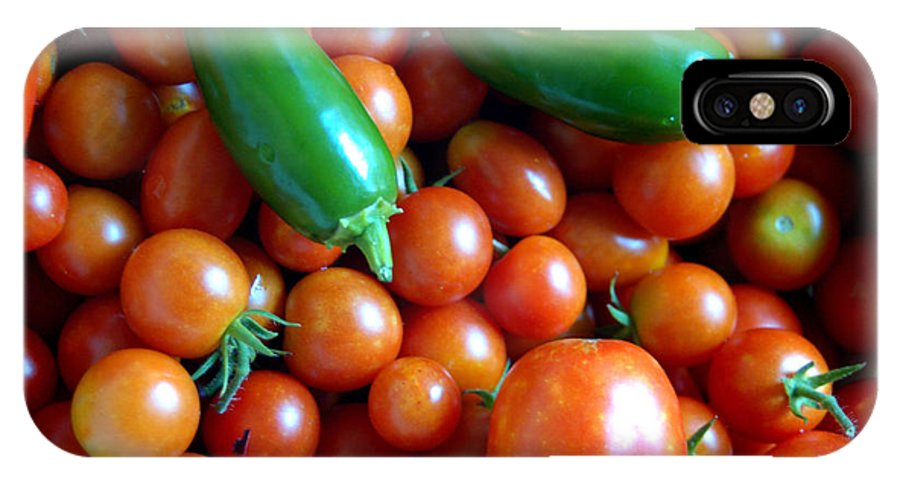 Tomatoes IPhone X Case featuring the photograph Our Garden by Timothy Graf